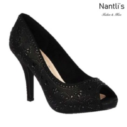 BL-Robin-263 Black Zapatos de Mujer Mayoreo Wholesale Women Heels Shoes Nantlis