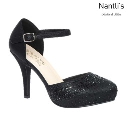 BL-Robin-266 Black Zapatos de Mujer Mayoreo Wholesale Women Heels Shoes Nantlis