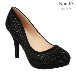BL-Robin-267 Black Zapatos de Mujer Mayoreo Wholesale Women Heels Shoes Nantlis
