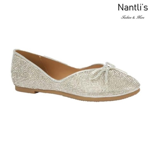 BL-Terra-2 Silver Zapatos de Mujer Mayoreo Wholesale Women flats Shoes Nantlis
