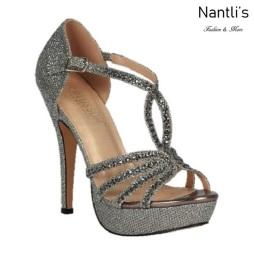BL-Vice-283 Pewter Zapatos de Mujer Mayoreo Wholesale Women Heels Bridal Shoes Nantlis