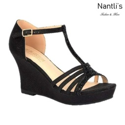 BL-Winni-111 Black Zapatos de Mujer Mayoreo Wholesale Women Wedges Shoes Nantlis