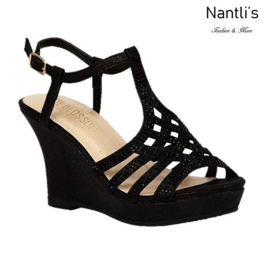 BL-Winni-21 Black Zapatos de Mujer Mayoreo Wholesale Women Wedges Shoes Nantlis