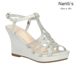 BL-Winni-21 Silver Zapatos de Mujer Mayoreo Wholesale Women Wedges Shoes Nantlis