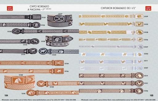 Catalogo Nantlis Vol IM2019 Nantlis Western Wear Productos de Mexico Page 104-105