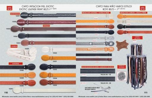 Catalogo Nantlis Vol IM2019 Nantlis Western Wear Productos de Mexico Page 110-111