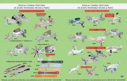 Catalogo Nantlis Vol IM2019 Nantlis Western Wear Productos de Mexico Page 126-127