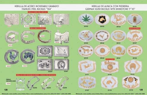 Catalogo Nantlis Vol IM2019 Nantlis Western Wear Productos de Mexico Page 128-129