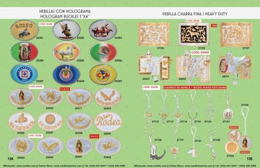 Catalogo Nantlis Vol IM2019 Nantlis Western Wear Productos de Mexico Page 134-135