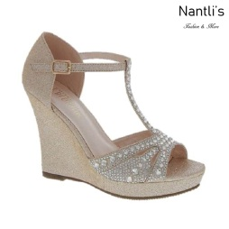 BL-Alina-50X Nude Zapatos de novia Mayoreo Wholesale Women Wedges Shoes Nantlis Bridal shoes