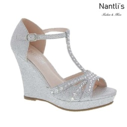 BL-Alina-50X Silver Zapatos de novia Mayoreo Wholesale Women Wedges Shoes Nantlis Bridal shoes