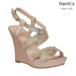 BL-Alle-12 Blush Zapatos de novia Mayoreo Wholesale Women Wedges Shoes Nantlis Bridal shoes