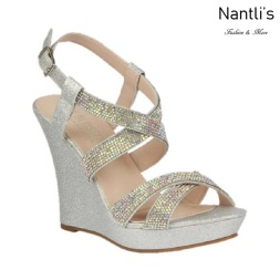 BL-Alle-12 Silver Zapatos de novia Mayoreo Wholesale Women Wedges Shoes Nantlis Bridal shoes