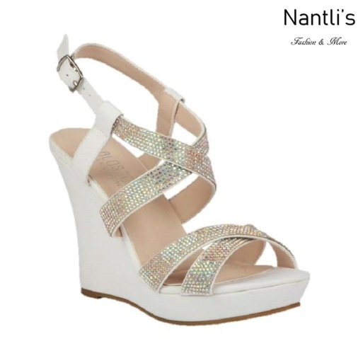 BL-Alle-12 White Zapatos de novia Mayoreo Wholesale Women Wedges Shoes Nantlis Bridal shoes