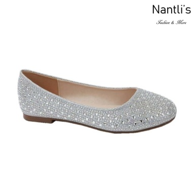 BL-Baba-1 Silver Zapatos de Novia Mayoreo Wholesale Women flats Shoes Nantlis Bridal shoes