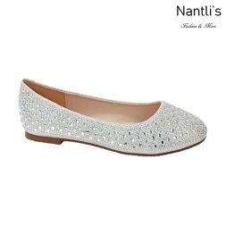 BL-Baba-1 White Zapatos de Novia Mayoreo Wholesale Women flats Shoes Nantlis Bridal shoes