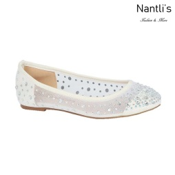 BL-Baba-31B White Zapatos de Novia Mayoreo Wholesale Women flats Shoes Nantlis Bridal shoes