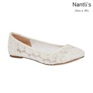 BL-Baba-53B White Zapatos de Novia Mayoreo Wholesale Women flats Shoes Nantlis Bridal shoes