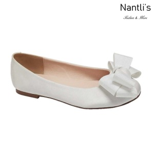 BL-Baba-67 White Zapatos de Novia Mayoreo Wholesale Women flats Shoes Nantlis Bridal shoes