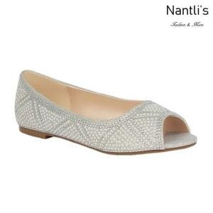 BL-Baba-70 Silver Zapatos de Novia Mayoreo Wholesale Women flats Shoes Nantlis Bridal shoes