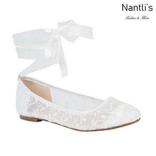 BL-Baba-78B White Zapatos de Novia Mayoreo Wholesale Women flats Shoes Nantlis Bridal shoes