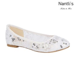 BL-Baba-81B White Zapatos de Novia Mayoreo Wholesale Women flats Shoes Nantlis Bridal shoes