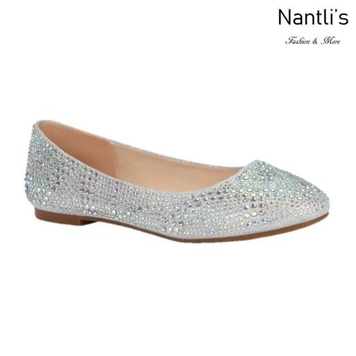 BL-Baba-87 Silver Zapatos de Novia Mayoreo Wholesale Women flats Shoes Nantlis Bridal shoes