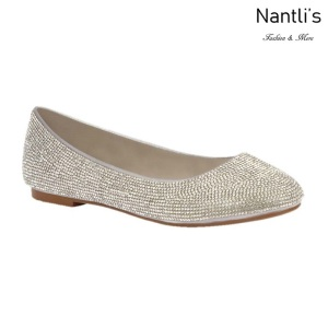 BL-Baba-88 Silver Zapatos de Novia Mayoreo Wholesale Women flats Shoes Nantlis Bridal shoes