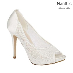 BL-Bonnie-10B White Zapatos de novia Mayoreo Wholesale Women Heels Shoes Nantlis Bridal shoes