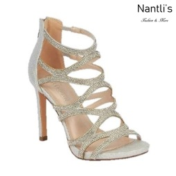 BL-Charlotte-11 Silver Zapatos de novia Mayoreo Wholesale Women Heels Shoes Nantlis Bridal shoes