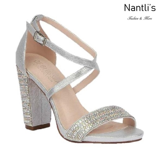 BL-Chelsea-22 Silver Zapatos de novia Mayoreo Wholesale Women Heels Shoes Nantlis Bridal shoes