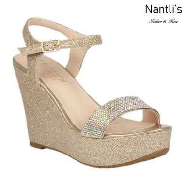 BL-Christy-51 Champagne Zapatos de novia Mayoreo Wholesale Women Wedges Shoes Nantlis Bridal shoes