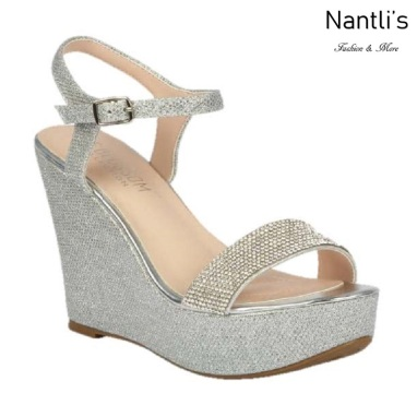 BL-Christy-51 Silver Zapatos de novia Mayoreo Wholesale Women Wedges Shoes Nantlis Bridal shoes