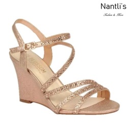 BL-Emma-5 Rose Gold Zapatos de novia Mayoreo Wholesale Women Wedges Shoes Nantlis Bridal shoes
