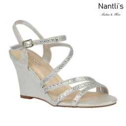 BL-Emma-5 Silver Zapatos de novia Mayoreo Wholesale Women Wedges Shoes Nantlis Bridal shoes