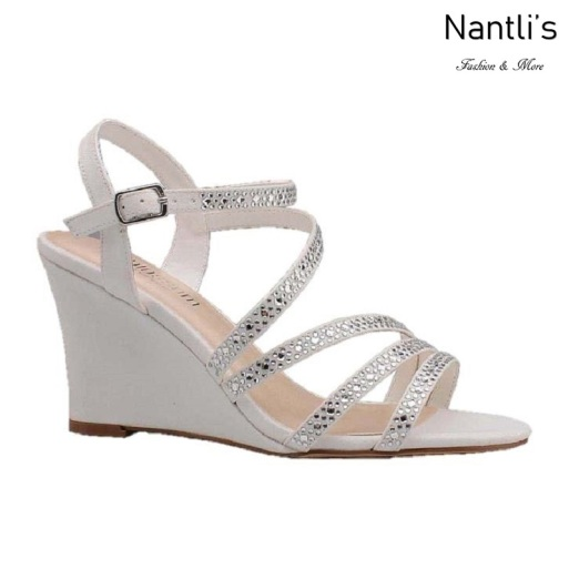 BL-Emma-5B White Zapatos de novia Mayoreo Wholesale Women Wedges Shoes Nantlis Bridal shoes