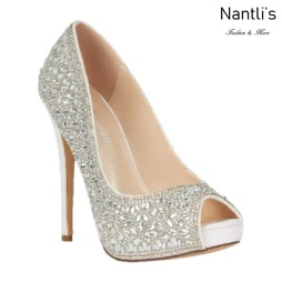 BL-Eternity-128B White Zapatos de novia Mayoreo Wholesale Women Heels Shoes Nantlis Bridal shoes