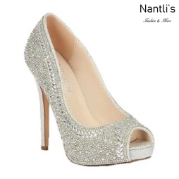 BL-Eternity-130 Silver Zapatos de novia Mayoreo Wholesale Women Heels Shoes Nantlis Bridal shoes