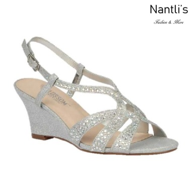 BL-Field-30 Silver Zapatos de novia Mayoreo Wholesale Women Wedges Shoes Nantlis Bridal shoes