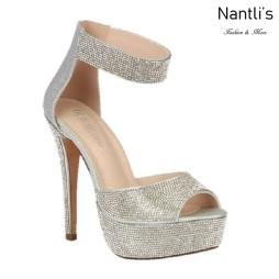 BL-Flora-13 Silver Zapatos de novia Mayoreo Wholesale Women Heels Shoes Nantlis Bridal shoes