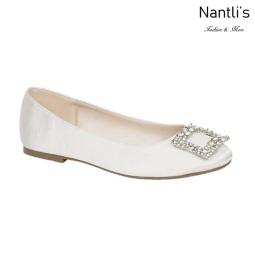 BL-Gigi-12B White Zapatos de Novia Mayoreo Wholesale Women flats Shoes Nantlis Bridal shoes