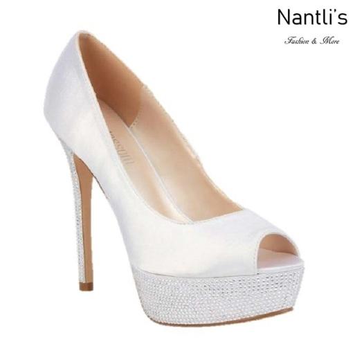 BL-Hailey-2B White Zapatos de novia Mayoreo Wholesale Women Heels Shoes Nantlis Bridal shoes