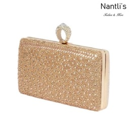 BL-HB-Eternity-130 Rose Gold Cartera de novia Mayoreo Wholesale bridal Hand Bag Nantlis