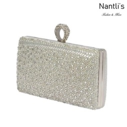 BL-HB-Eternity-130 Silver Cartera de novia Mayoreo Wholesale bridal Hand Bag Nantlis
