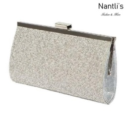 BL-HB48X Silver Cartera de novia Mayoreo Wholesale bridal Hand Bag Nantlis