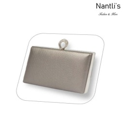 BL-HBJ10 Pewter Cartera de novia Mayoreo Wholesale bridal Hand Bag Nantlis