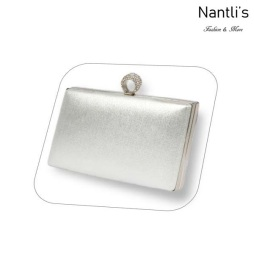 BL-HBJ10 Silver Cartera de novia Mayoreo Wholesale bridal Hand Bag Nantlis
