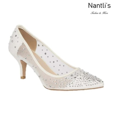 BL-Hurley-1B White Zapatos de novia Mayoreo Wholesale Women Heels Shoes Nantlis Bridal shoes