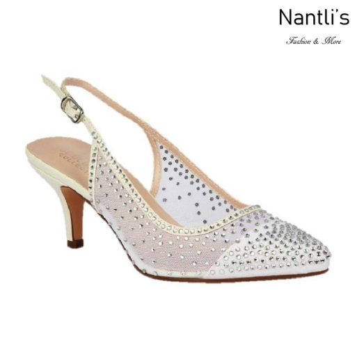 BL-Hurley-20B White Zapatos de novia Mayoreo Wholesale Women Heels Shoes Nantlis Bridal shoes