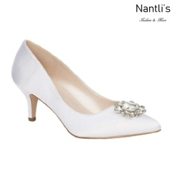 BL-Hurley-8B White Zapatos de novia Mayoreo Wholesale Women Heels Shoes Nantlis Bridal shoes